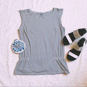 🔴2 for $20🔴 Striped Peplum Top